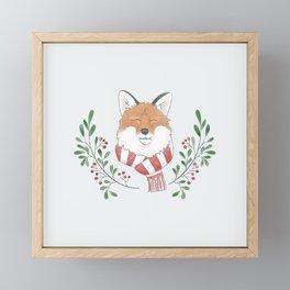 Holiday Fox Framed Mini Art Print