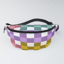 Colorful Checker 01 Fanny Pack