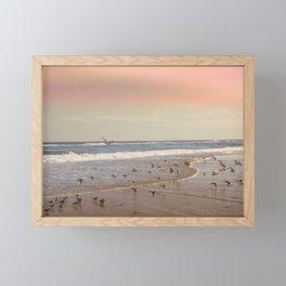 Pink Sandy Beaches Framed Mini Art Print