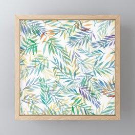 Watercolour Ferns | Tropical Colours Framed Mini Art Print