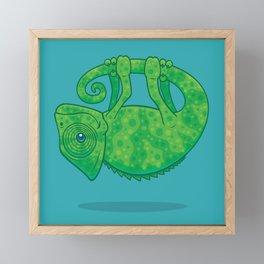Magical Chameleon Framed Mini Art Print