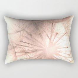 Pink Dandelion Macro Nature Photography Art and Apparel Rectangular Pillow
