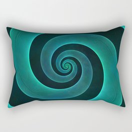 Magical Teal Green Spiral Design Rectangular Pillow