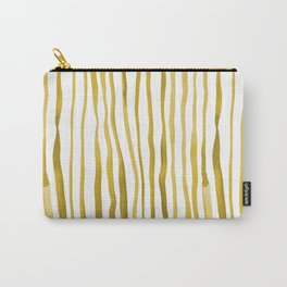 Vertical watercolor lines - yellow Carry-All Pouch
