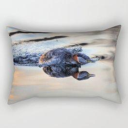 Grebe Torpedo - Red-necked Grebe Rectangular Pillow