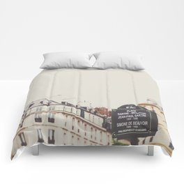 Place Sartre Beauvoir Comforters