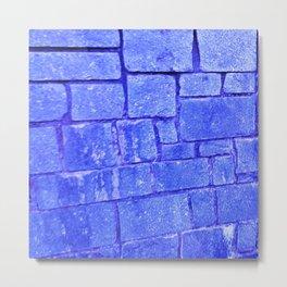 Purple stone wall Metal Print