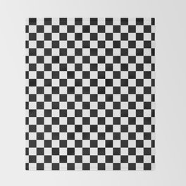 Black and White Checkerboard Pattern Throw Blanket