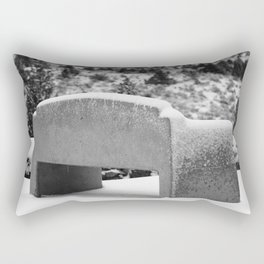 Snowy Bench Rectangular Pillow