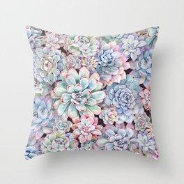 succulent garden 3 Throw Pillow
