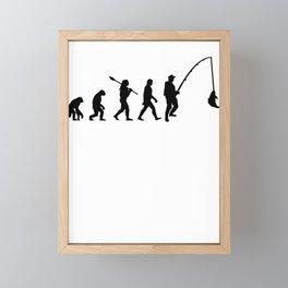 Angler fisherman Framed Mini Art Print