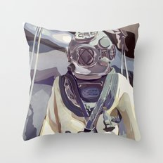 Diver Throw Pillow