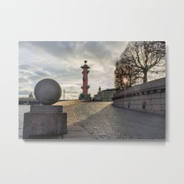 Rostral column in Saint Petersburg Metal Print