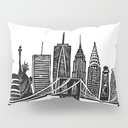 Linocut New York Pillow Sham