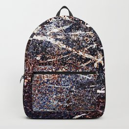 Scratched Rusty Metal Weathered Texture Abstract Backpack