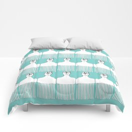 I pick my afro - (teal) Comforters