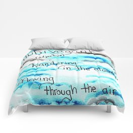 Watercolor Clouds Comforters