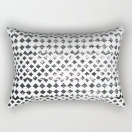 Glimmering Sea Water Mosaic Rectangular Pillow