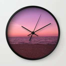 Sunset in Camini Wall Clock