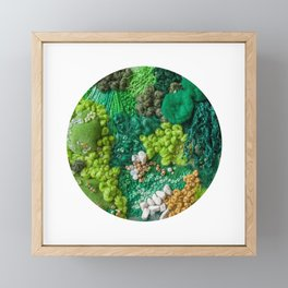 Moss Cluster Framed Mini Art Print