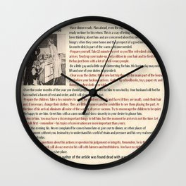 Good Wife's Guide Wall Clock