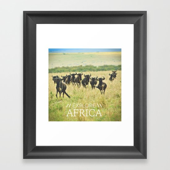 Wildebeest Framed Art Print