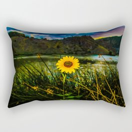Sunflower on the Lake Rectangular Pillow