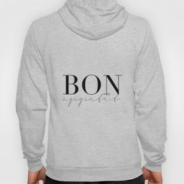 Bon Appetit,french Quote,Kitchen Sign,Kitchen Wall Art,Home Decor,Quote Prints,Typography Print Hoody