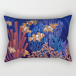 Clown Fish tank Rectangular Pillow