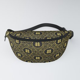 Gold Double Happiness Symbol in lotus pattern Fanny Pack
