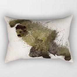 The Angry man Rectangular Pillow