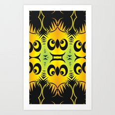 CVAn0044 Fussy Monster Smlies All Over Art Print