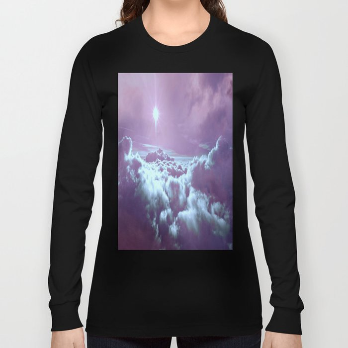 Mystic Clouds Lavender Aqua Long Sleeve T-shirt