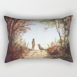A Walk in the Autumn Woods Rectangular Pillow