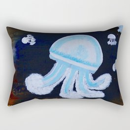 The Jewelly Jelly Fish Rectangular Pillow