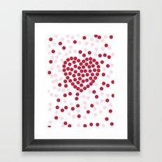 giving hearts giving hope: dots Framed Art Print