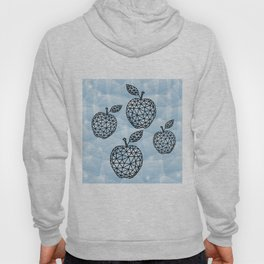 Abstract triangle apples with background Hoody