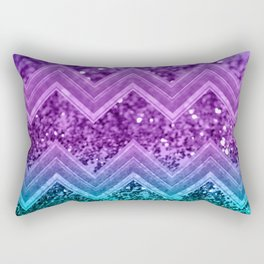 Unicorn Glitter Chevron #3 #shiny #decor #art #society6 Rectangular Pillow