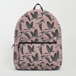 Canada Geese Flying in Buff Backpack
