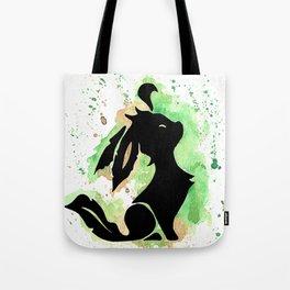 Leafeon Splash Silhouette Tote Bag