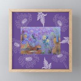 Music of flowers - Ultraviolet composition Framed Mini Art Print