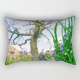 Amongst the Dusty Bluebells Rectangular Pillow
