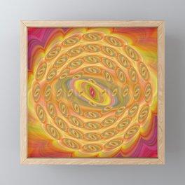 Hypnotic Eyes of the Sun Framed Mini Art Print