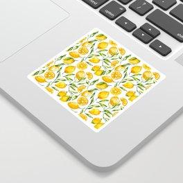 lemon watercolor print Sticker