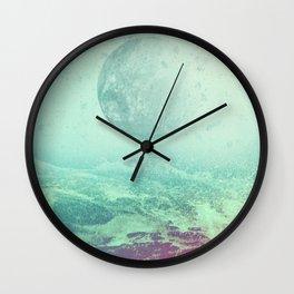Under a Silicon Moon Wall Clock
