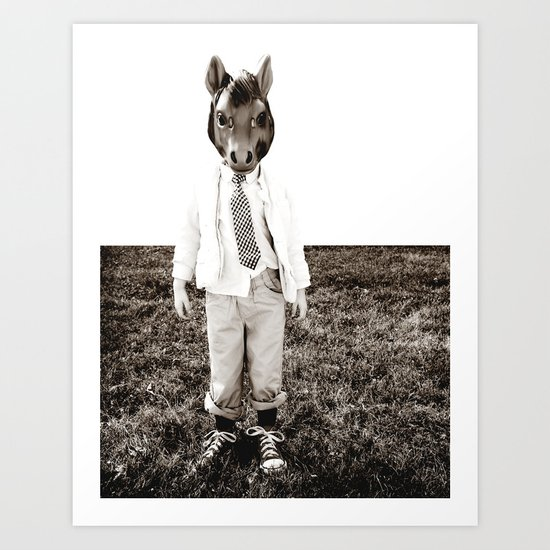 Portrait of a Boy Art Print