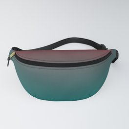 Ombre Quetzal Green Dark Red Pear Gradient Pattern Fanny Pack