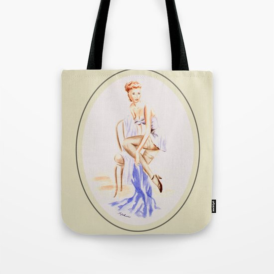 Erotic lady in lingerie - Retrostyle Tote Bag
