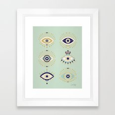 Evil Eye Collection Framed Art Print