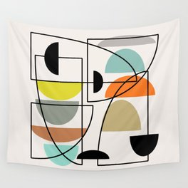 """Mid Century Modern """"Bowls"""" Wall Tapestry"""